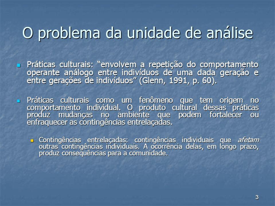 4 Contingências entrelaçadas como unidade de análise Exemplos de entrelaçamento Exemplos de entrelaçamento p.