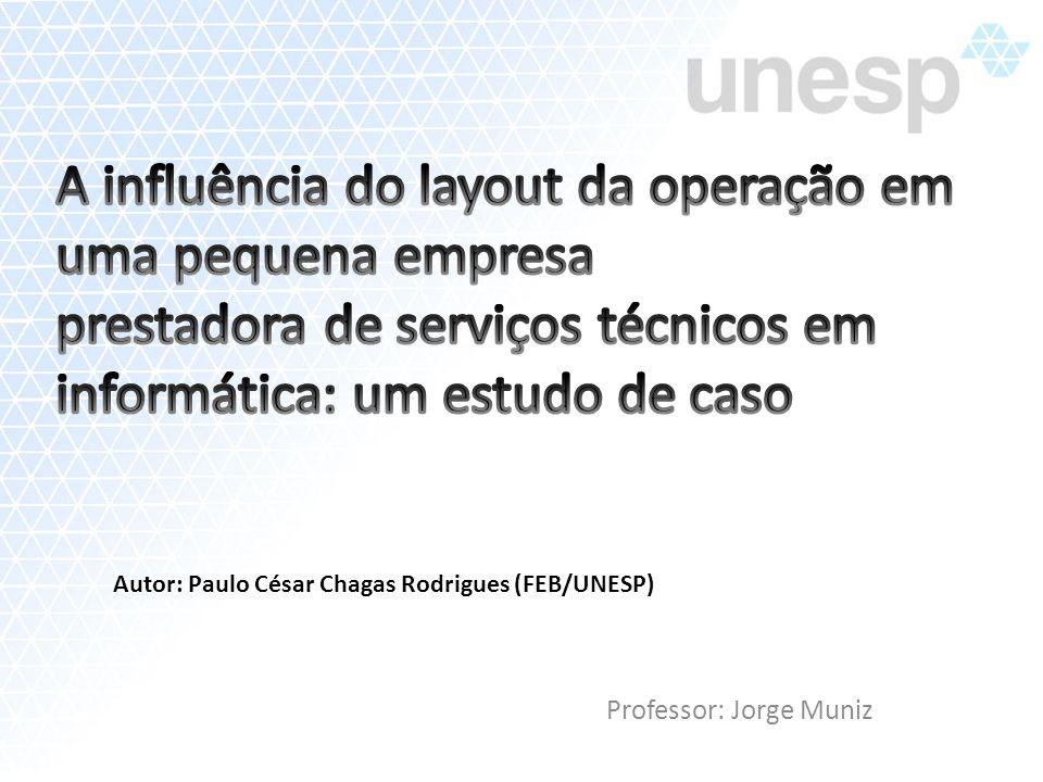 Professor: Jorge Muniz Autor: Paulo César Chagas Rodrigues (FEB/UNESP)