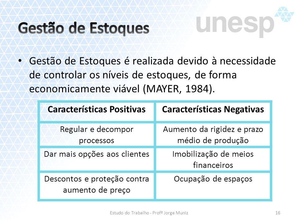 Gestão de Estoques é realizada devido à necessidade de controlar os níveis de estoques, de forma economicamente viável (MAYER, 1984). Estudo do Trabal