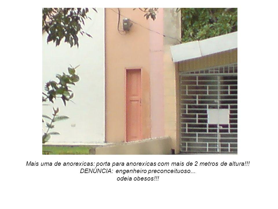 Mais uma de anorexicas: porta para anorexicas com mais de 2 metros de altura!!! DENÚNCIA: engenheiro preconceituoso... odeia obesos!!!