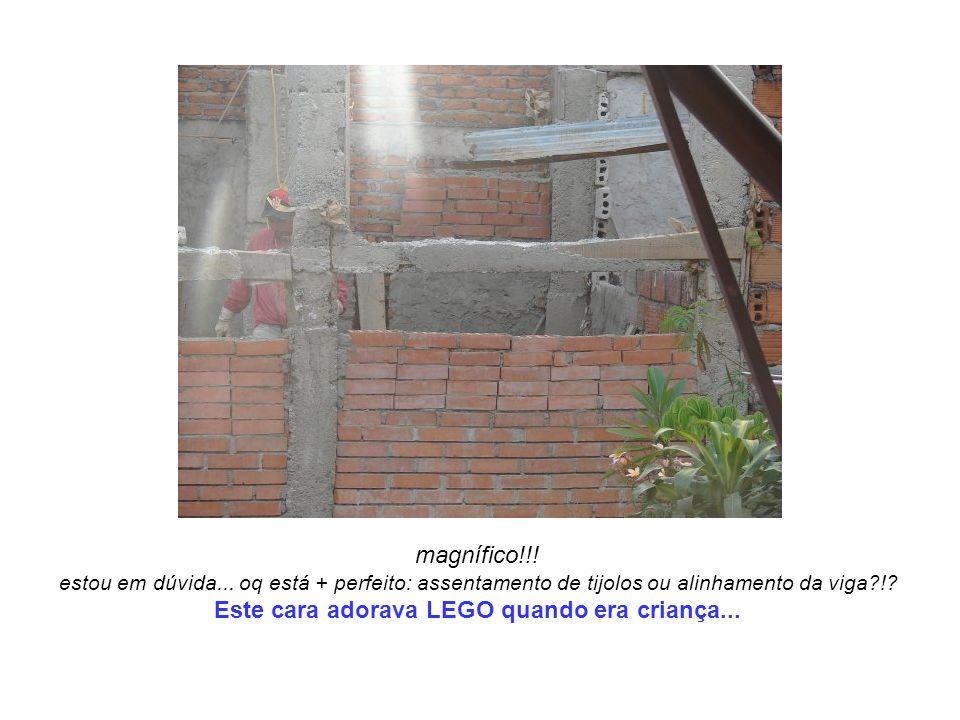 magnífico!!! estou em dúvida... oq está + perfeito: assentamento de tijolos ou alinhamento da viga?!? Este cara adorava LEGO quando era criança...