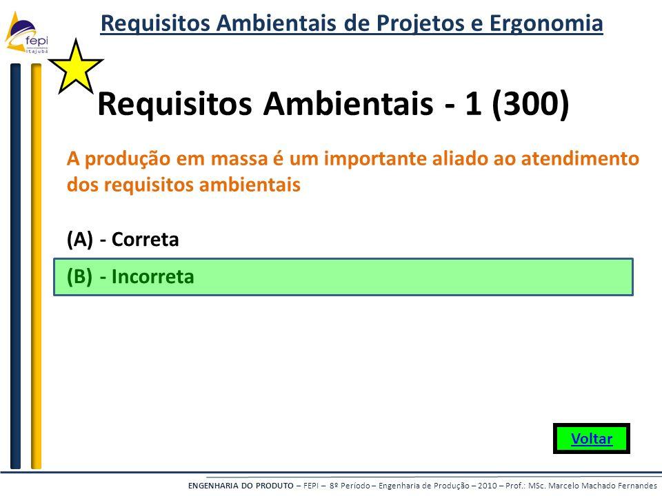 ENGENHARIA DO PRODUTO – FEPI – 8º Período – Engenharia de Produção – 2010 – Prof.: MSc. Marcelo Machado Fernandes A produção em massa é um importante