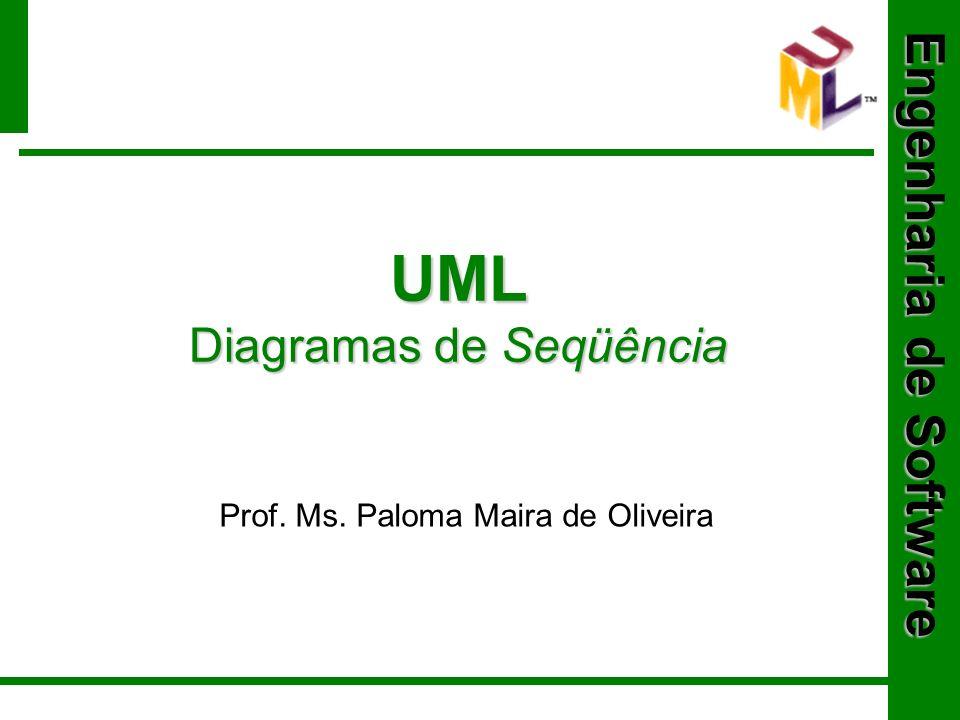 Engenharia de Software UML Diagramas de Seqüência Prof. Ms. Paloma Maira de Oliveira