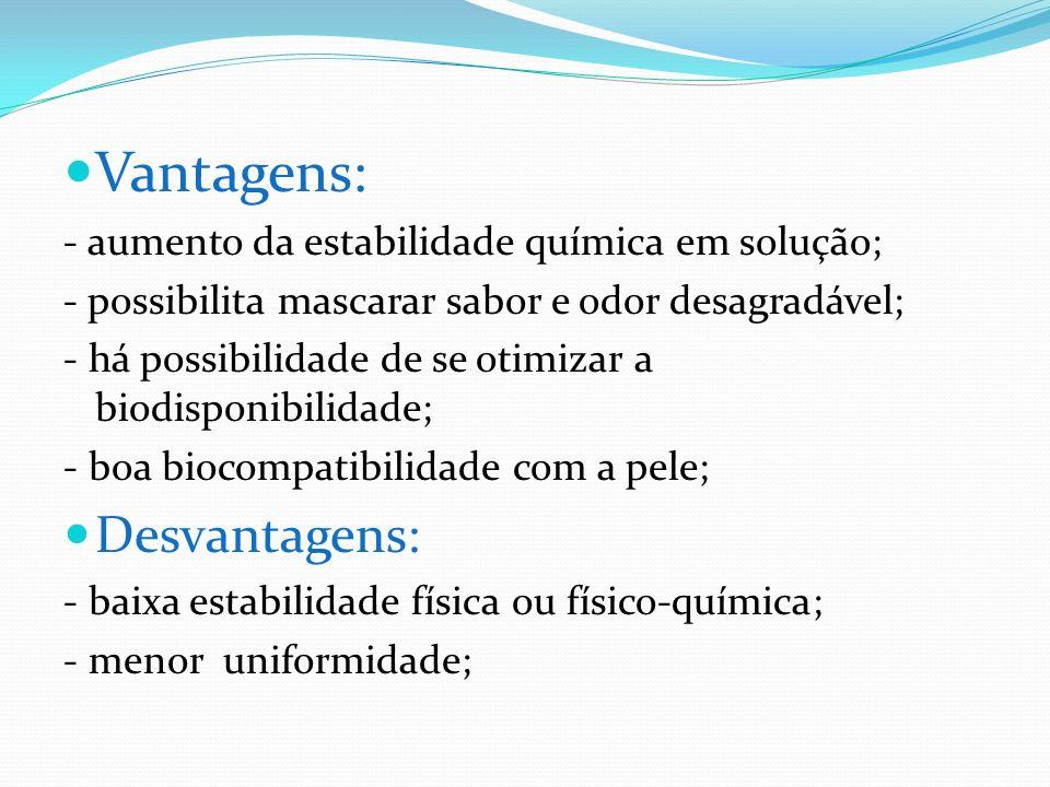 Componentes: Tensoativos; Antioxidantes; Conservantes; Fragrância; Substâncias ativa; Agente espessante; Edulcorantes; Corantes; Flavorizantes; Fase aquosa(água destilada ou deionizada, conservantes e umectantes); Fase oleosa(agentes de consistência, subst.