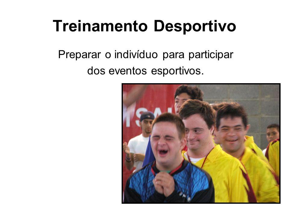 Treinamento Desportivo Preparar o indivíduo para participar dos eventos esportivos.