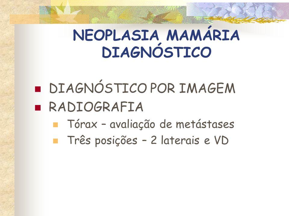 NEOPLASIA MAMÁRIA DIAGNÓSTICO RADIOGRAFIA
