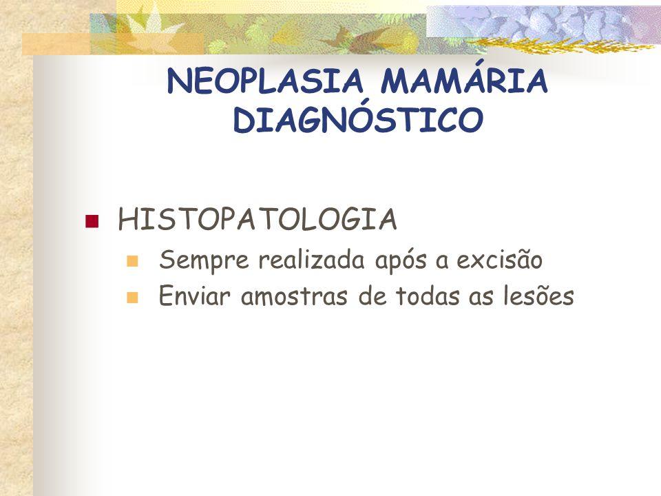 NEOPLASIA MAMÁRIA TRATAMENTO CIRURGIA Tratamento de escolha para as neoplasias mamárias Abordagem agressiva Excisão sozinha raramente é curativa Exceções: lesões pequenas e carcinoma in situ