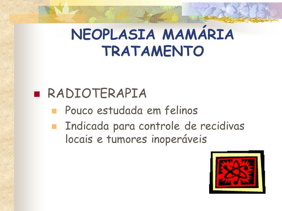 NEOPLASIA MAMÁRIA TRATAMENTO IMUNOTERAPIA Corynebaterium parvum Streptococcus pyogenes + Serratia marcescens Levamisole BCG Efeitos controversos