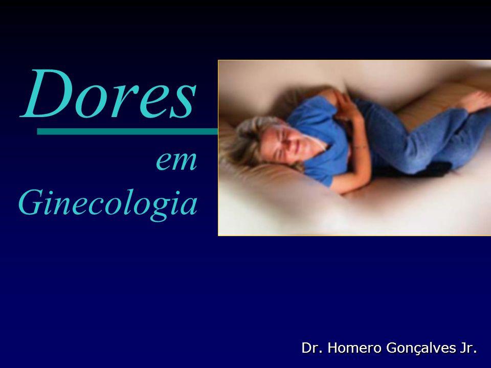 Dores em Ginecologia Conceitos de dor Conceitos de dor Tipos de dor: Tipos de dor: Somáticas Somáticas Viscerais (dores pélvicas) Viscerais (dores pélvicas) Dores extragenitais (pélvicas) Dores extragenitais (pélvicas) Funções – disfunções – patologias Funções – disfunções – patologias Sistematizando a dor pélvica (grupos) Sistematizando a dor pélvica (grupos) Abordagem: Abordagem: Anamnese Anamnese Exame físico e ginecológico Exame físico e ginecológico Sucintas avaliações adicionais Sucintas avaliações adicionais Exames complementares Exames complementares