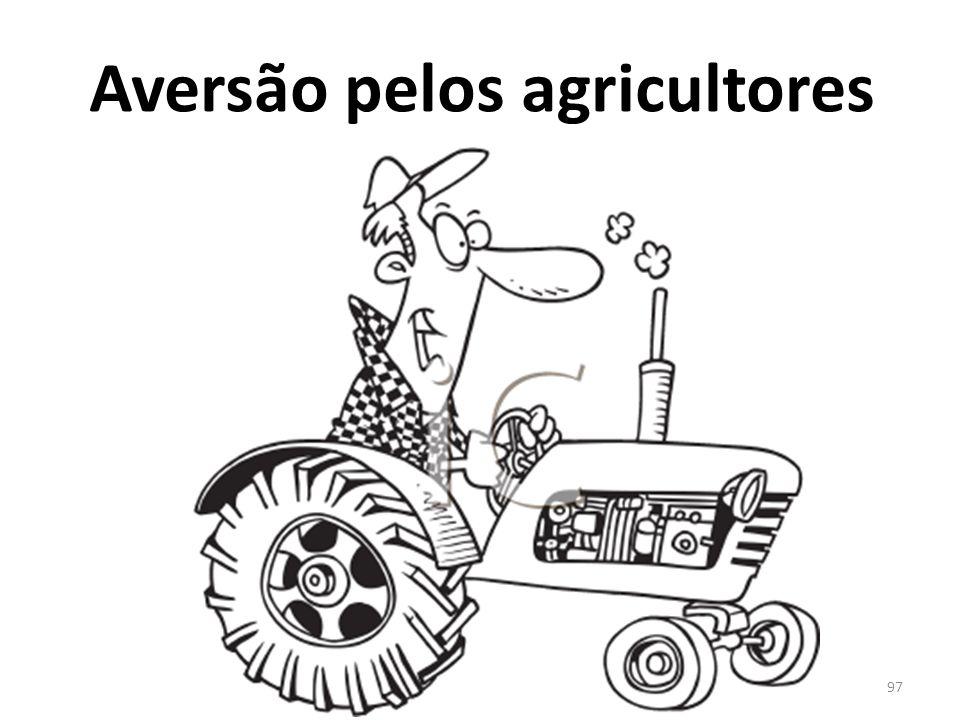 Aversão pelos agricultores 97