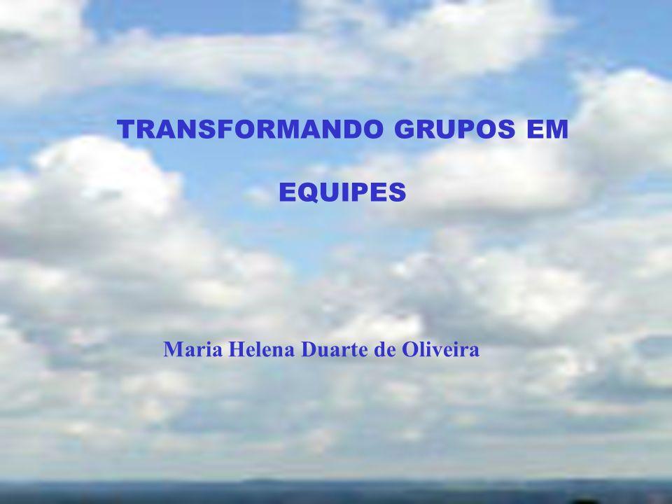 TRANSFORMANDO GRUPOS EM EQUIPES Maria Helena Duarte de Oliveira