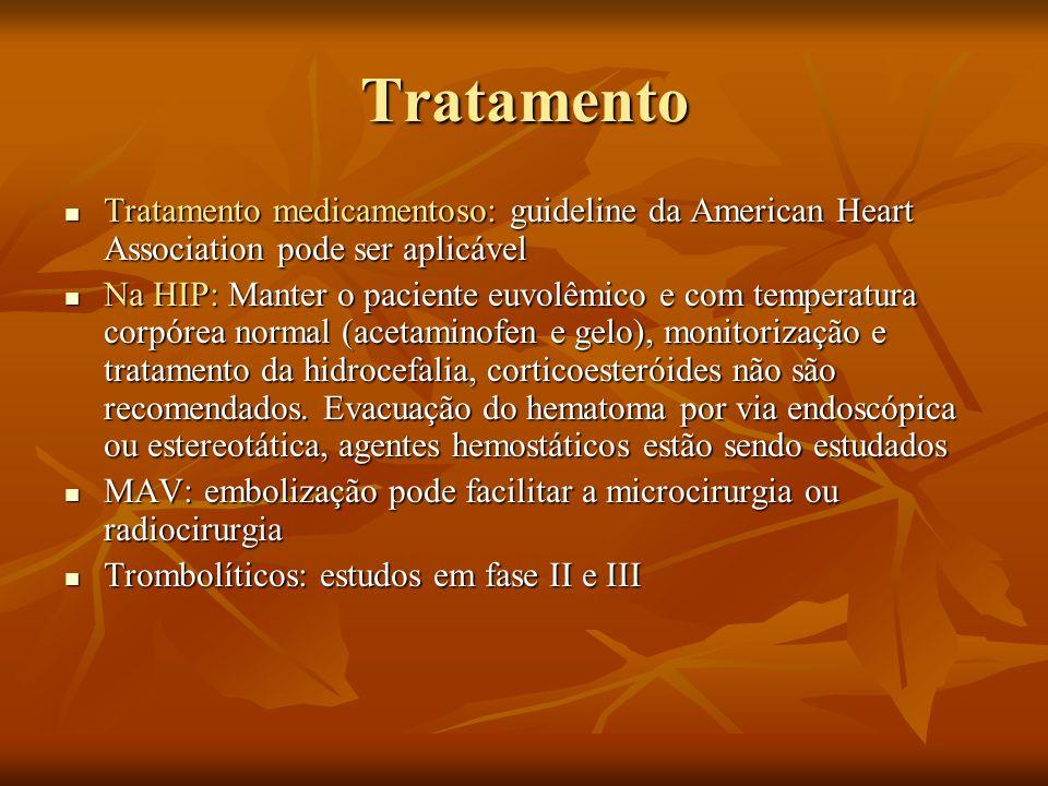 Tratamento Tratamento medicamentoso: guideline da American Heart Association pode ser aplicável Tratamento medicamentoso: guideline da American Heart