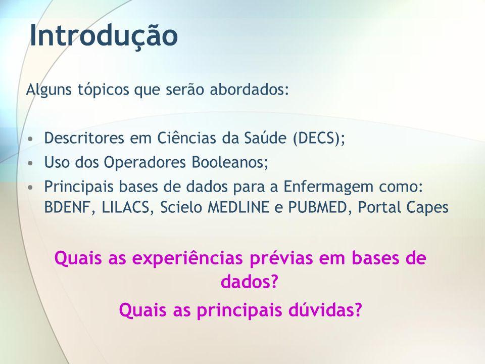 Formulário Avançado Portal LILACS DICA: Utilizar o formulário iAH (Formulário avançado)