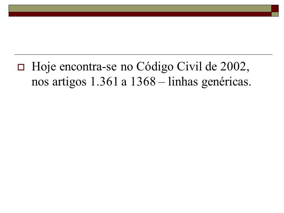 Hoje encontra-se no Código Civil de 2002, nos artigos 1.361 a 1368 – linhas genéricas.