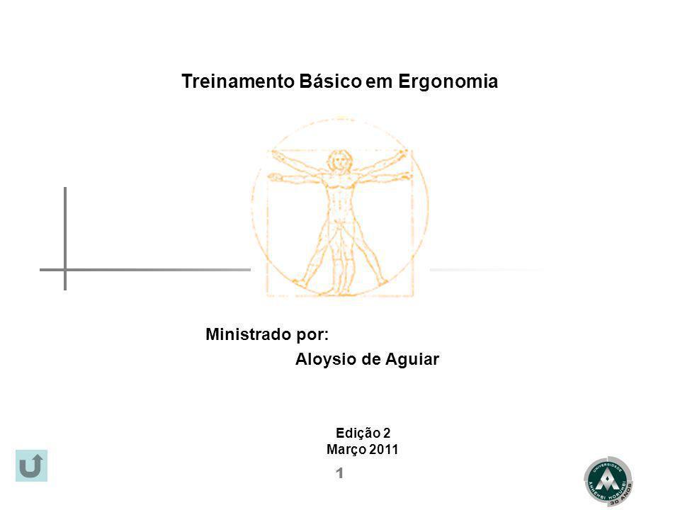 1 Treinamento Básico em Ergonomia Ministrado por: Edição 2 Março 2011 Aloysio de Aguiar