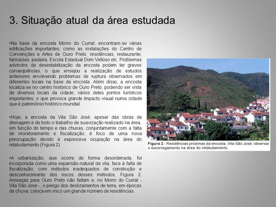 3. Situação atual da área estudada Na base da encosta Morro do Curral, encontram-se várias edificações importantes, como as instalações do Centro de C