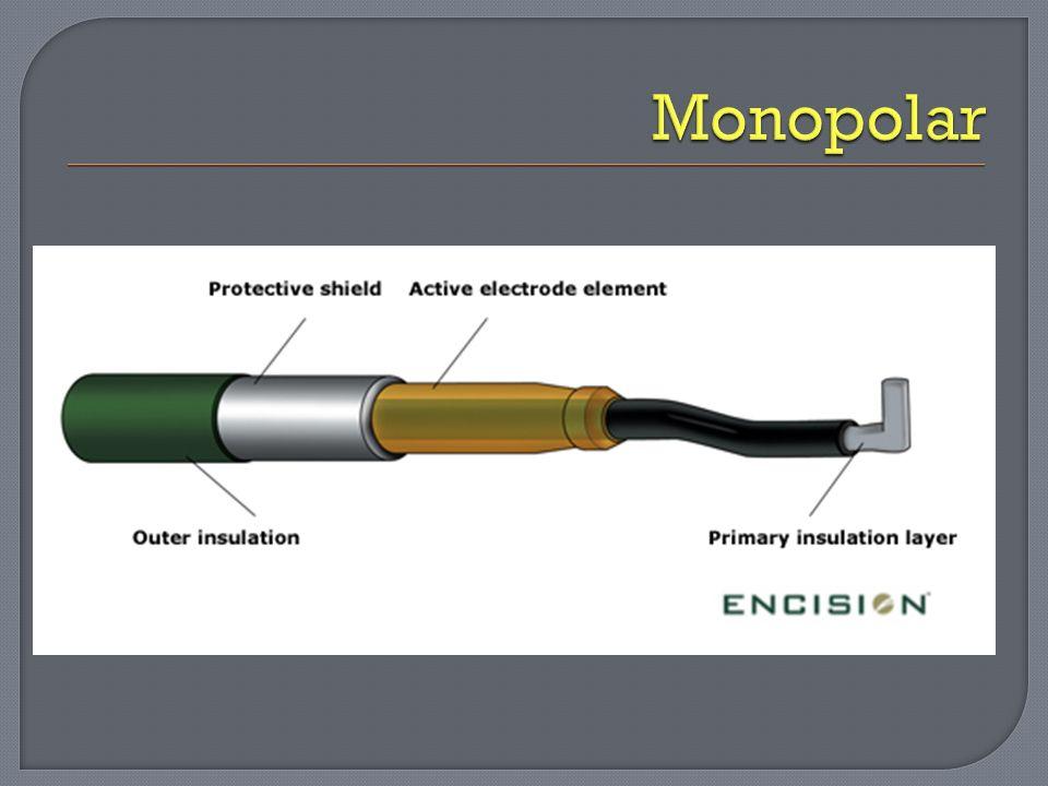 Monopolar: usado quando não se deseja propagação térmica.