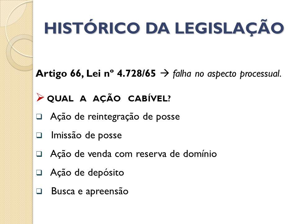 HISTÓRICO DA LEGISLAÇÃO Reformulação do art.