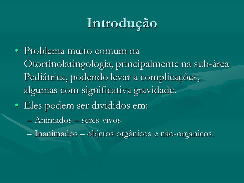Introdução Problema muito comum na Otorrinolaringologia, principalmente na sub-área Pediátrica, podendo levar a complicações, algumas com significativ