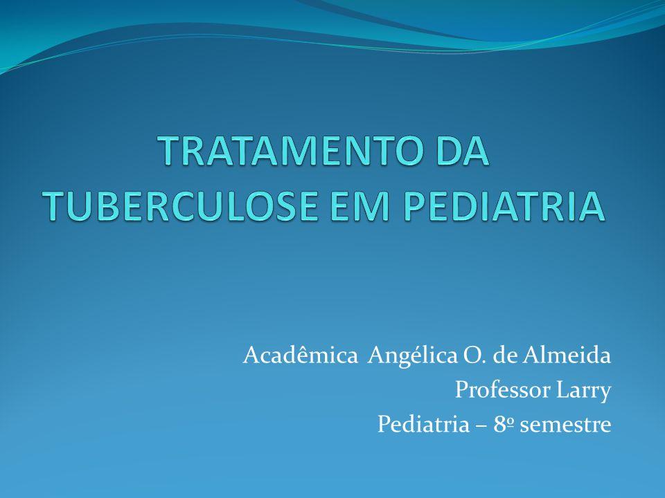 Acadêmica Angélica O. de Almeida Professor Larry Pediatria – 8º semestre