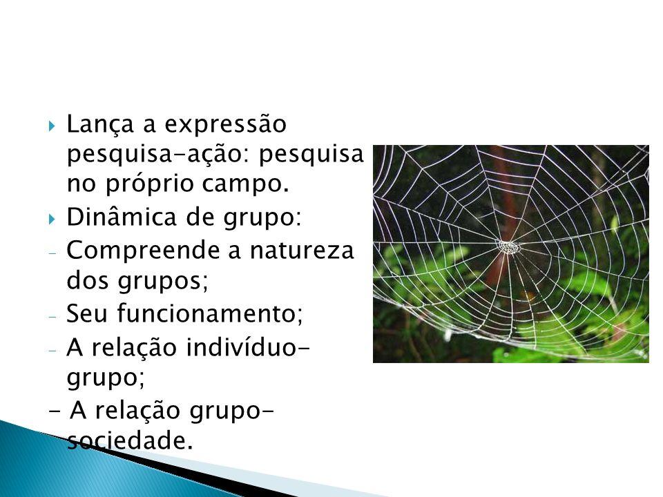 procura de um objetivo comum, que motiva sua participação na atividade do grupo.