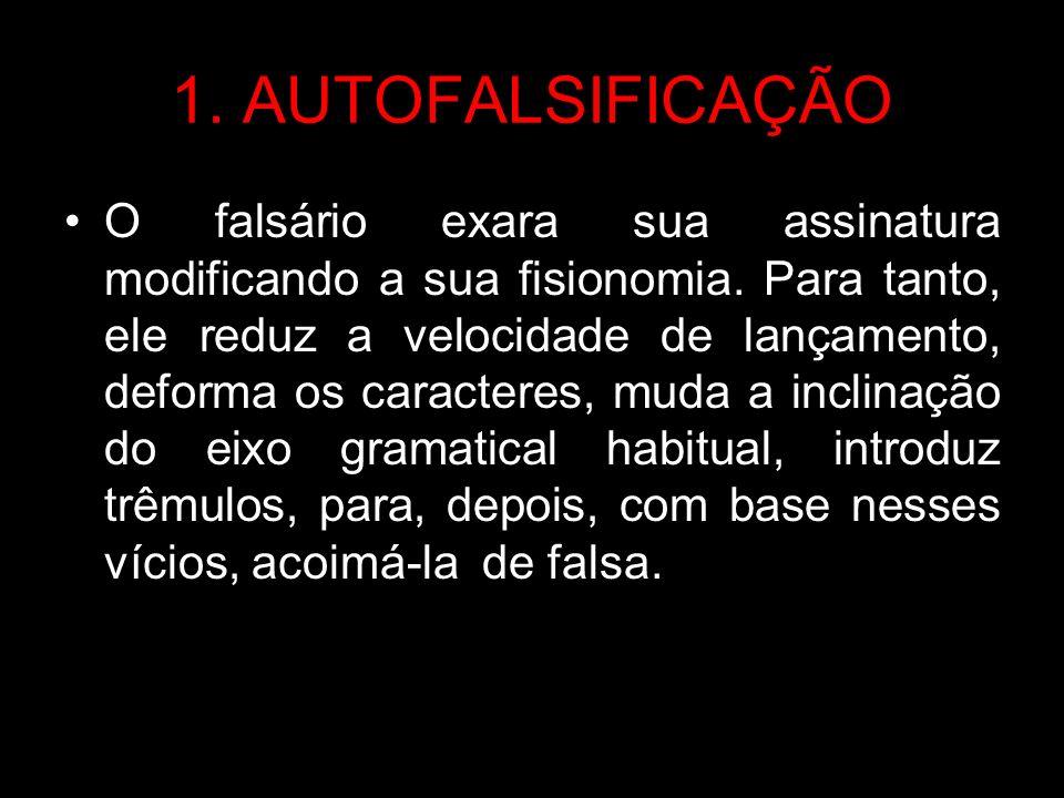 2.SIMULAÇÃO DE FALSO Difere da autofalsificação.