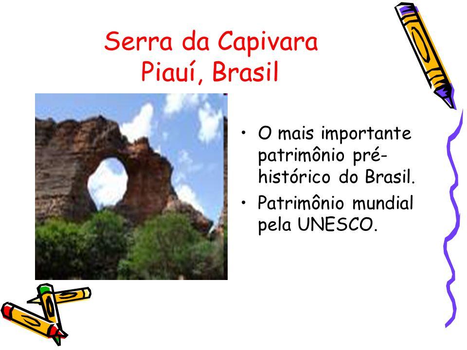 Serra da Capivara Piauí, Brasil O mais importante patrimônio pré- histórico do Brasil. Patrimônio mundial pela UNESCO.