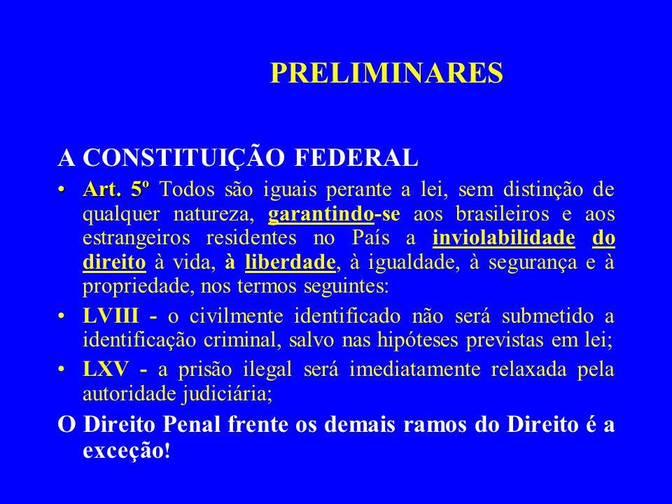 A CONSTITUIÇÃO FEDERAL Art. 5ºArt. 5º Todos são iguais perante a lei, sem distinção de qualquer natureza, garantindo-se aos brasileiros e aos estrange