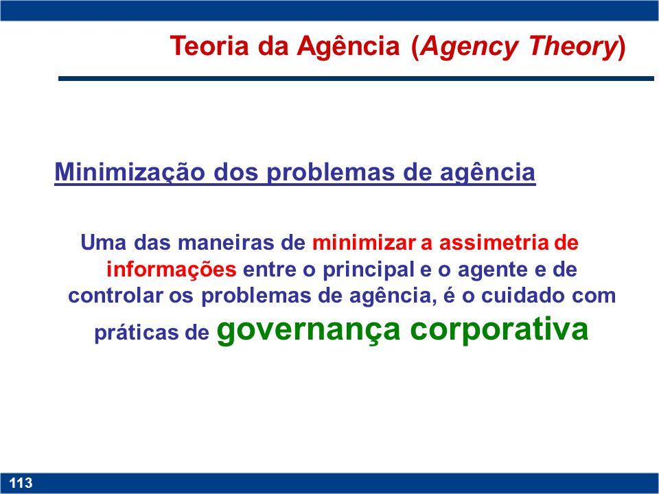 Copyright © 2006 by Pearson Education 15-112 112 Figura 3 – Assimetria Informacional Fonte: Adaptada de Martinez (1998) Teoria da Agência (Agency Theo