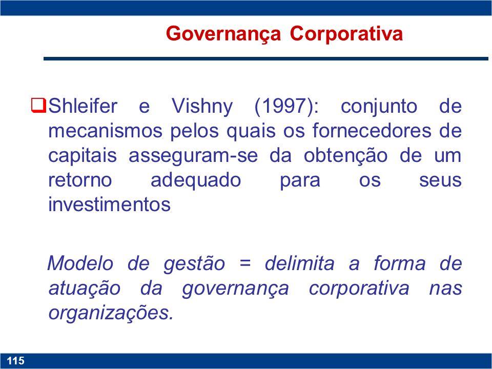 Copyright © 2006 by Pearson Education 15-114 114 Copyright © 2006 by Pearson Education 15-114 114 Governança Corporativa diversas definições Garvey e