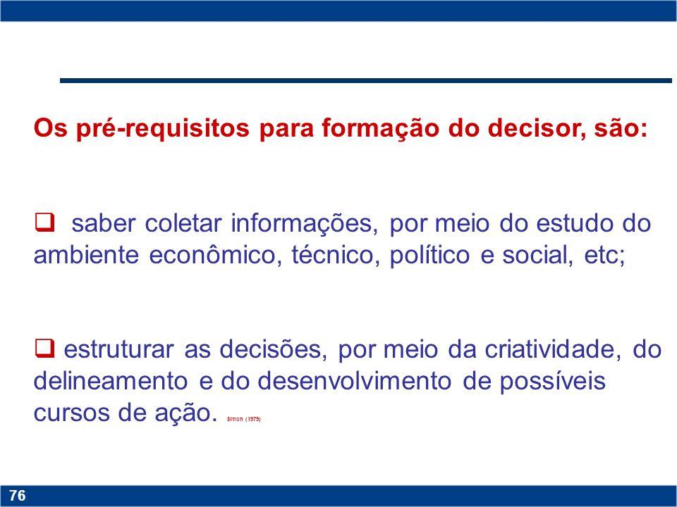 Copyright © 2006 by Pearson Education 15-75 75 Fatores que afetam a decisão do gestor PONDERAÇÃO CRIATIVIDADE ASSERTIVIDADE COMPORTAMENTO ÉTICO CAPACI