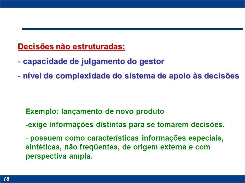 Copyright © 2006 by Pearson Education 15-77 77 Estruturas dos problemas de decisão Decisões estruturadas: são aquelas repetitivas, os passos são previ