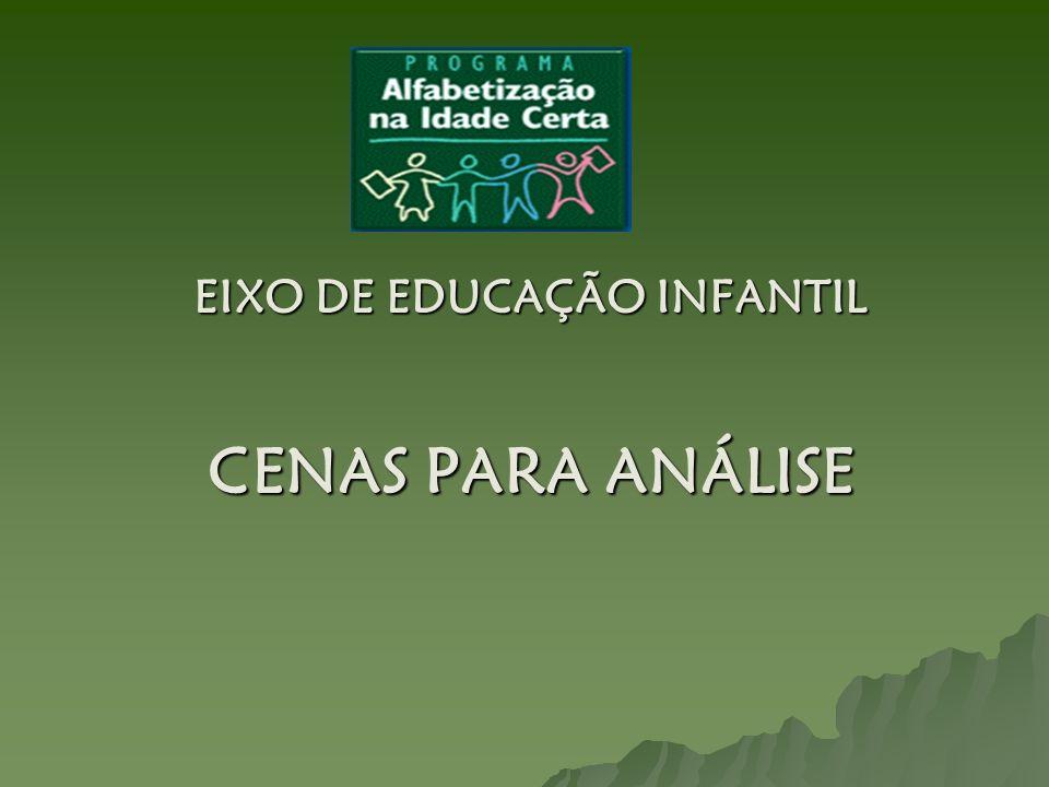 EIXO DE EDUCAÇÃO INFANTIL CENAS PARA ANÁLISE
