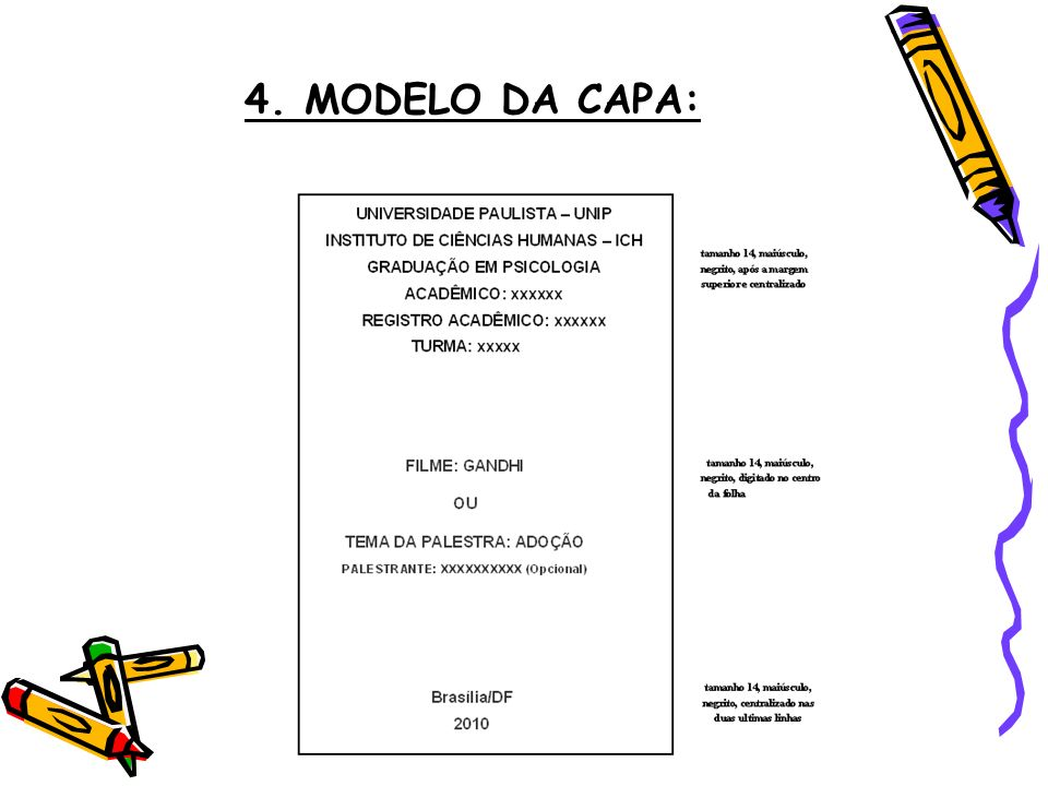 4. MODELO DA CAPA: