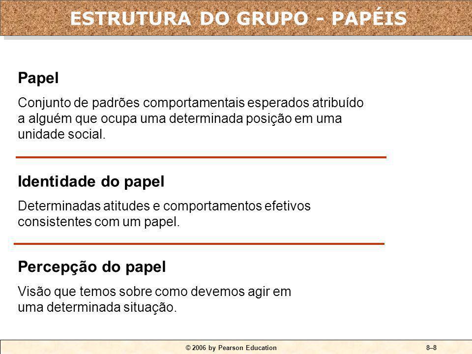 © 2006 by Pearson Education8–7 QUADRO 8-2 Estágios de desenvolvimento do grupo