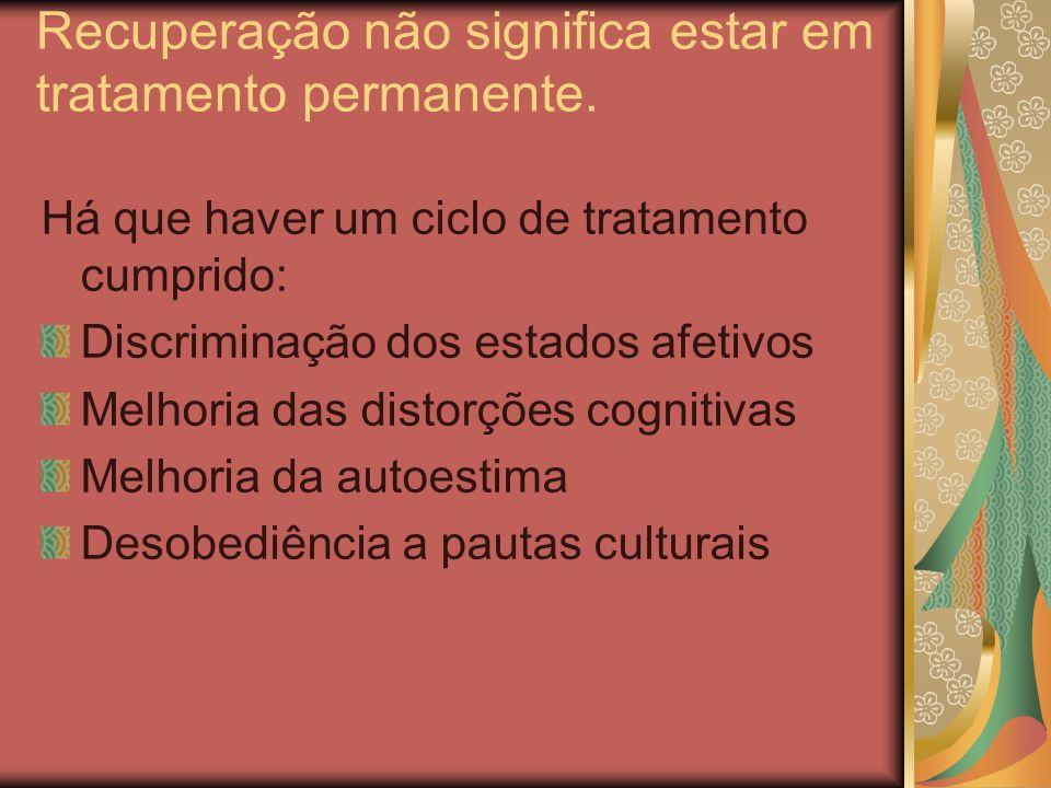 Critérios metapsicologicos de recuperação Predomínio: Funcionamento edípico conflitivo Ideal do ego Tramitação pulsional Sobre: Funcionamento narcisista nirvânico Ego-ideal descarga