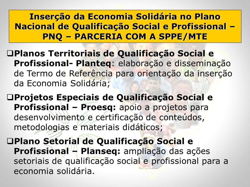 Planos Territoriais de Qualificação Social e Profissional- Planteq: elaboração e disseminação de Termo de Referência para orientação da inserção da Ec