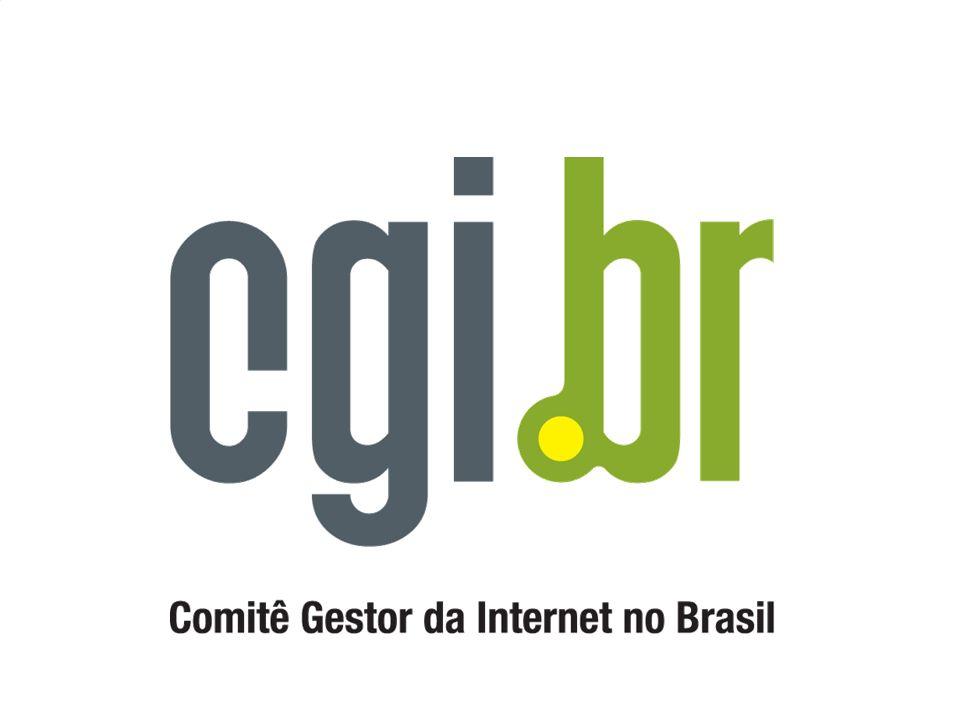 ENDEREÇOS IMPORTANTES Comitê Gestor da Internet no Brasil CGI.br => http://www.cg.org.br Núcleo de Informação e Coordenação do Ponto BR NIC.br => http://nic.br Registro de Nomes => http://registro.br Segurança/Estatísticas => http://cert.br Pontos de Troca de Tráfego => http://ptt.br