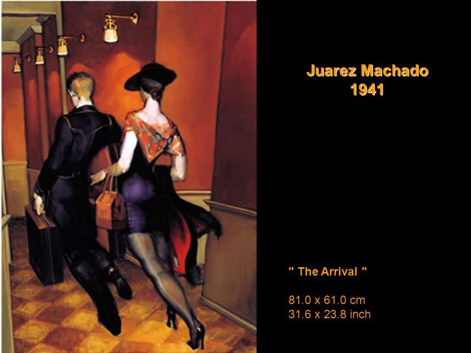 The Arrival 81.0 x 61.0 cm 31.6 x 23.8 inch Juarez Machado 1941