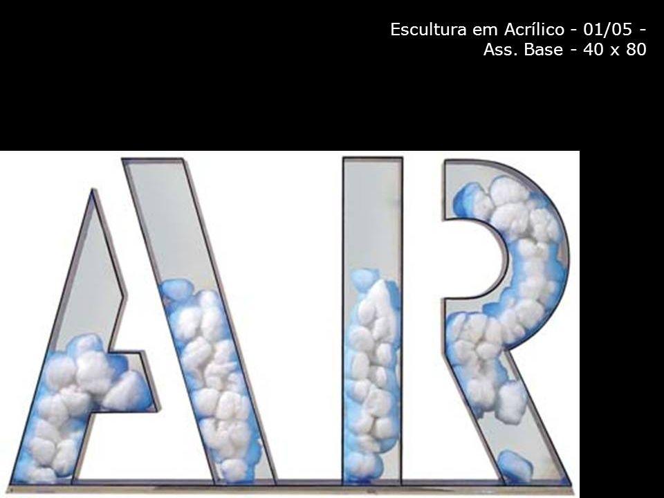 Escultura em Acrílico - 01/05 - Ass. Base - 40 x 80