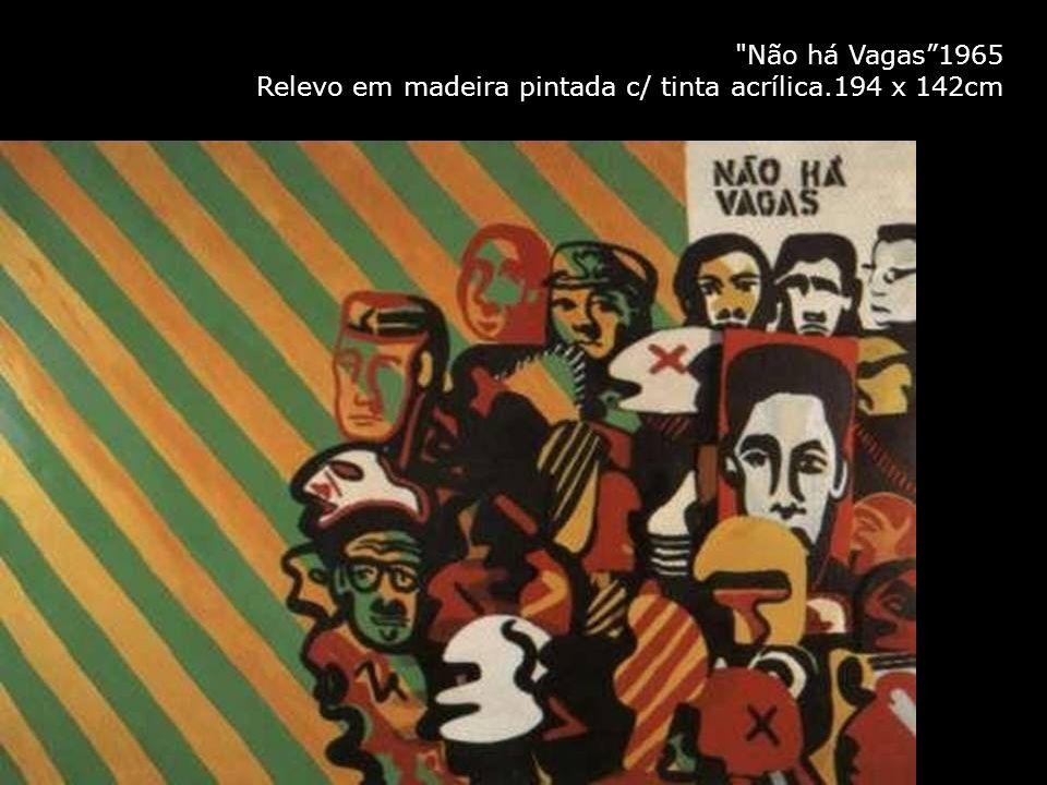 Não há Vagas1965 Relevo em madeira pintada c/ tinta acrílica.194 x 142cm