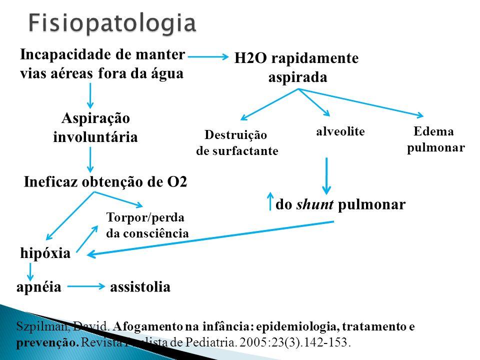 Szpilman, David. Afogamento na infância: epidemiologia, tratamento e prevenção. Revista Paulista de Pediatria. 2005:23(3).142-153. apnéia Aspiração in
