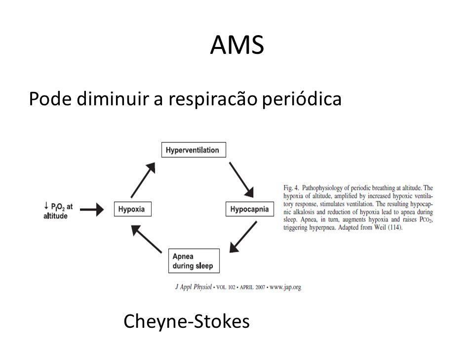 Pode diminuir a respiracão periódica Cheyne-Stokes