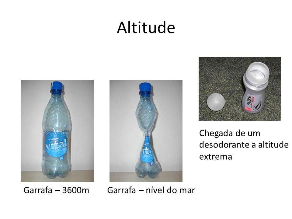 Altitude Garrafa – 3600m Garrafa – nível do mar Chegada de um desodorante a altitude extrema
