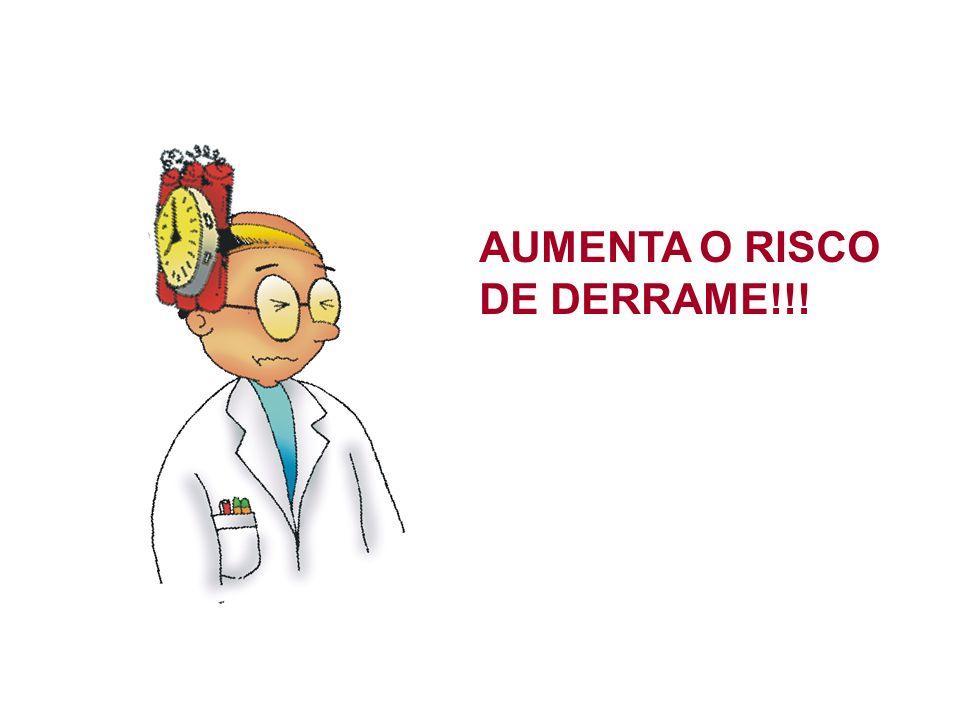 AUMENTA O RISCO DE DERRAME!!!