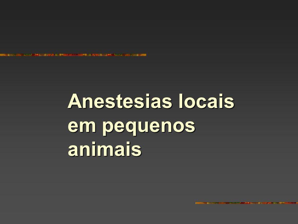 Anestesias locais em pequenos animais