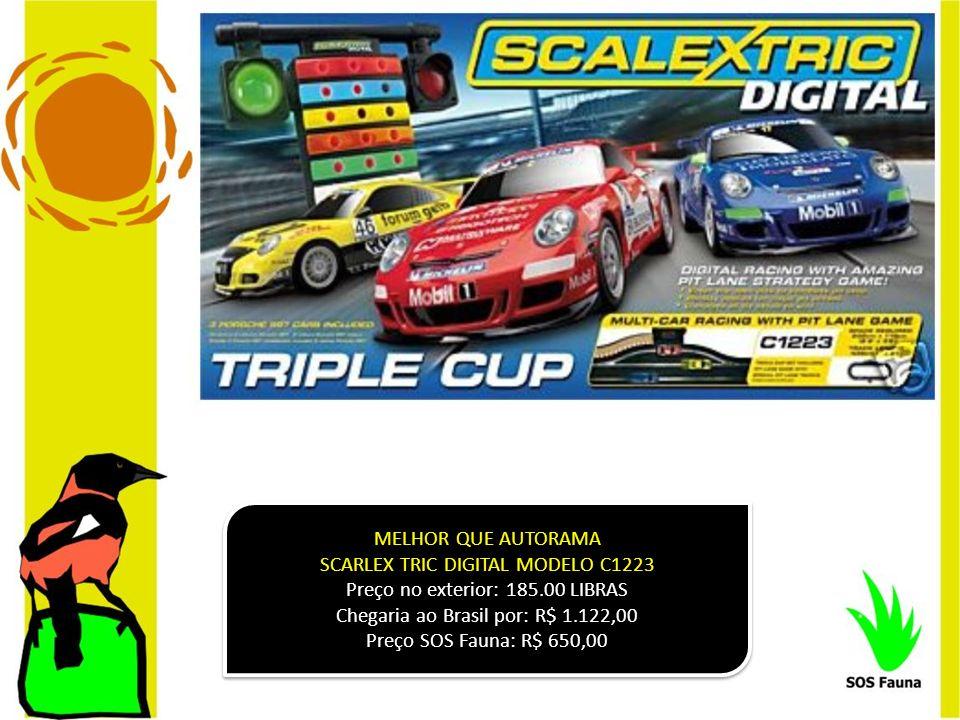 MELHOR QUE AUTORAMA SCARLEX TRIC DIGITAL MODELO C1223 Preço no exterior: 185.00 LIBRAS Chegaria ao Brasil por: R$ 1.122,00 Preço SOS Fauna: R$ 650,00