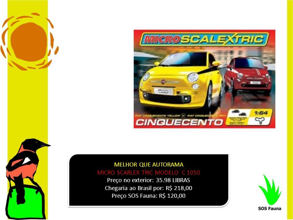 MELHOR QUE AUTORAMA MICRO SCARLEX TRIC MODELO C 1050 Preço no exterior: 35.98 LIBRAS Chegaria ao Brasil por: R$ 218,00 Preço SOS Fauna: R$ 120,00 MELH