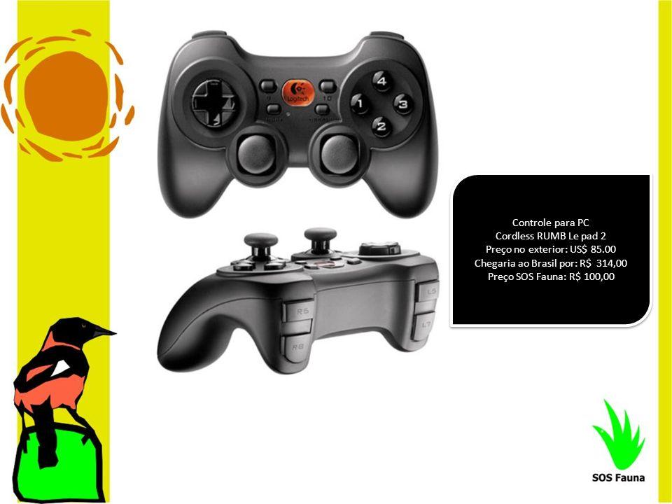 Controle para PC Cordless RUMB Le pad 2 Preço no exterior: US$ 85.00 Chegaria ao Brasil por: R$ 314,00 Preço SOS Fauna: R$ 100,00 Controle para PC Cor