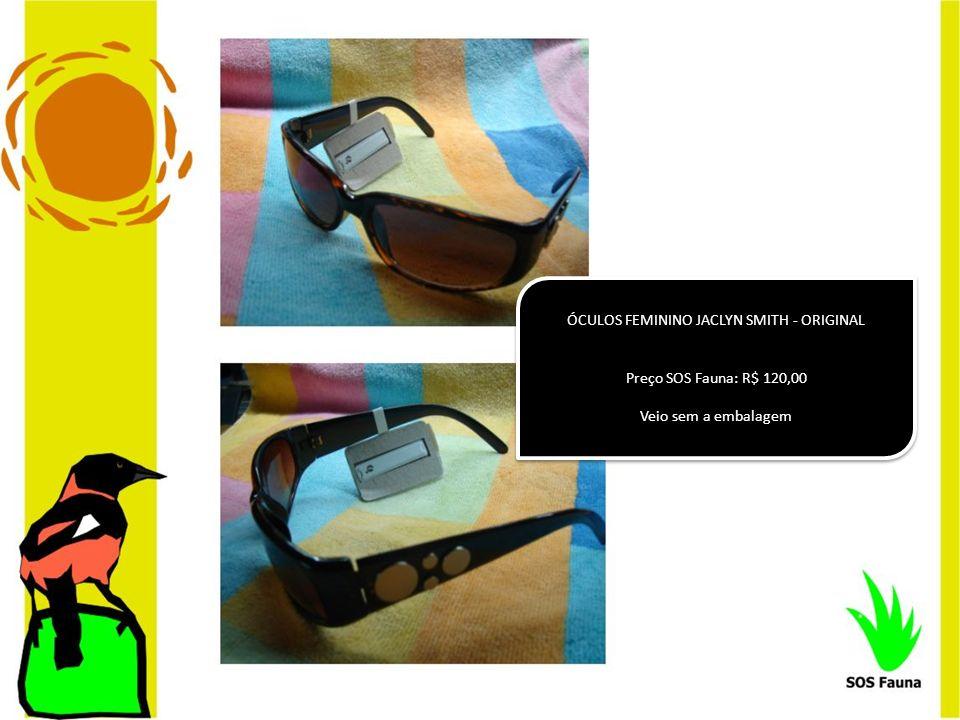 ÓCULOS FEMININO JACLYN SMITH - ORIGINAL Preço SOS Fauna: R$ 120,00 Veio sem a embalagem ÓCULOS FEMININO JACLYN SMITH - ORIGINAL Preço SOS Fauna: R$ 12